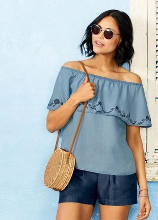 Стильная блуза с воланом esmara евро 42, 44