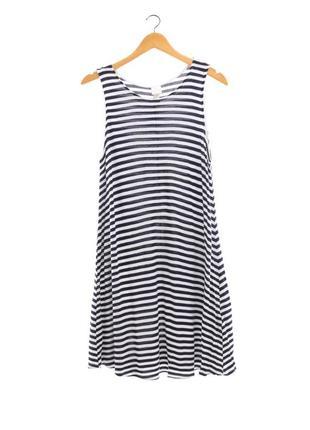 Полосатое платье трапеция от h&m, размер м