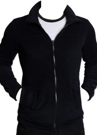 Флисовая кофта флиска чёрного цвета новая M L