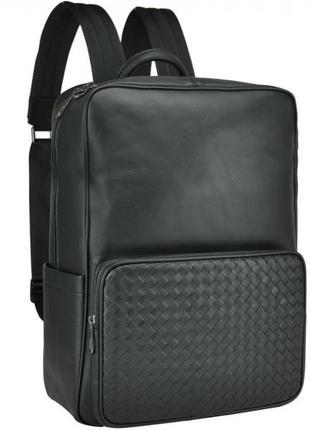 Мужской кожаный рюкзак стильный модный анатомическая спинка