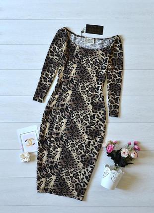 Стильне плаття карандаш в леопардовий прінт