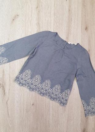 Блузка на девочку с вышивкой