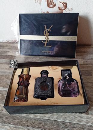 Женский подарочный набор духов yves saint laurent,black opium