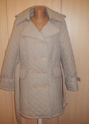 Стеганое пальто тренч emporio fashion p.l