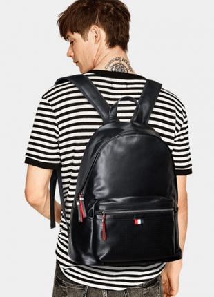 Кожаный мужской рюкзак casual стильный анатомическая спинка на...