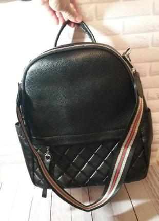 Женский кожаный рюкзак из натуральной кожи трансформер сумка к...