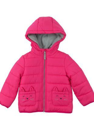 Утепленная куртка carters fuchsia hooded puffer coat 6x