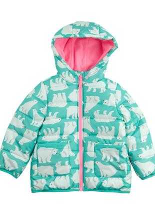 Утепленная куртка carters blue polar bear hooded puffer coat 5-6