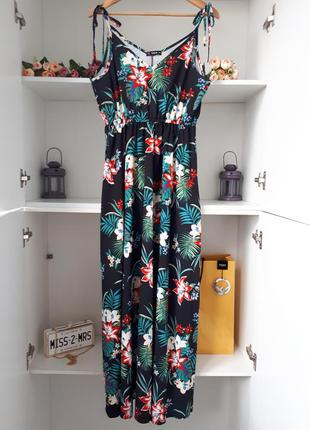 Летнее длинное платье сарафан shein