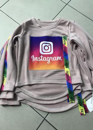 Стильный реглан instagram,  свитшот инстаграм