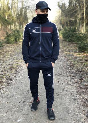 Новая Колекция Мужской спортивный костюм Adidas Весна 2020