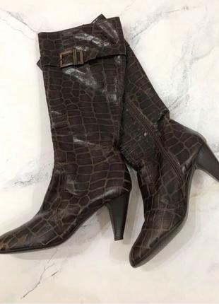 Vera gomma осенние кожаные сапоги