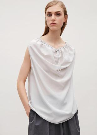 Cos шелковая блуза, топ