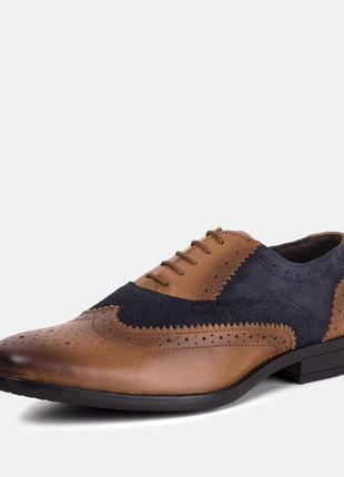 Мужские кожаные  оксфорды туфли броги дерби redfoot