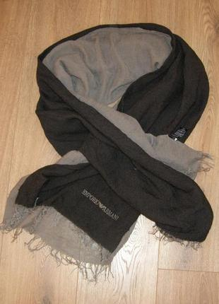 Шерстяной шарф emporio armani, италия