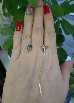 Серьги сережки серебряные серебро цирконий цирконы камни протя...