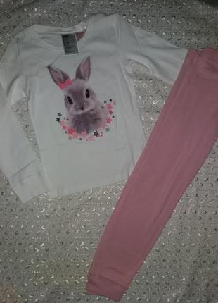 Пижама на девочку тонкая 5-6л h&m