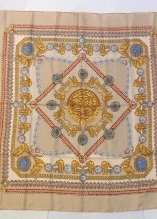 Платок женский, шелковый gerald genta сделан во франции