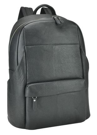 Мужской рюкзак для ноутбука кожаный стильный вместительный casual