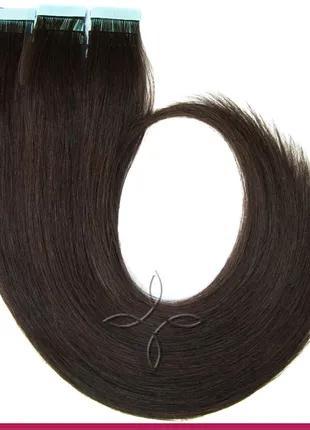 Волосы для Наращивания на Лентах 50 см 100 грамм, Шоколад №02