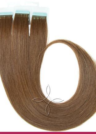 Волосы для Наращивания на Лентах 50 см 100 грамм, Шоколад №05