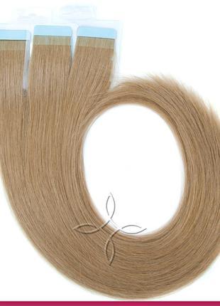 Волосы для Наращивания на Лентах 50 см 100 грамм, Русый №08