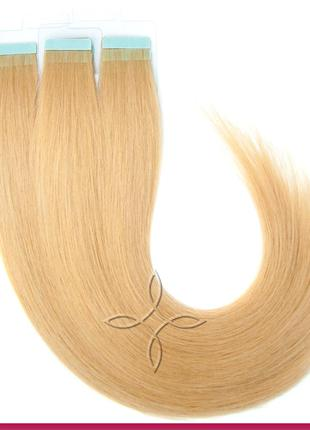 Волосы для Наращивания на Лентах 50 см 100 грамм Светло-Русый №14