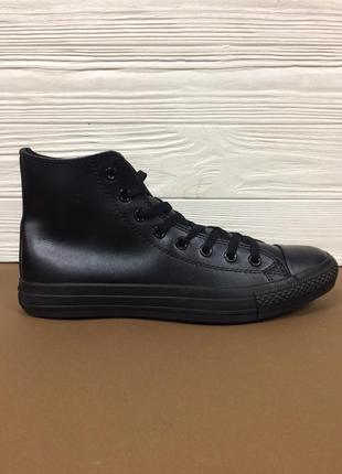 Мужские кеды кроссовки converse кожаные ! высокие чёрные кеды ...