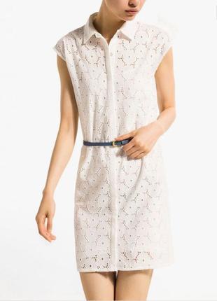 Massimo duti платье, летнее лёгкое платье, мини платье, белое ...