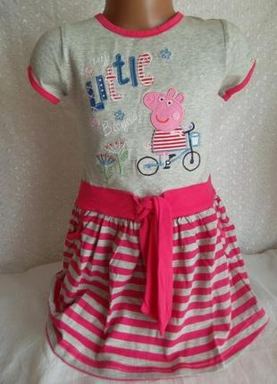 Платье на девочку пеппа 2г