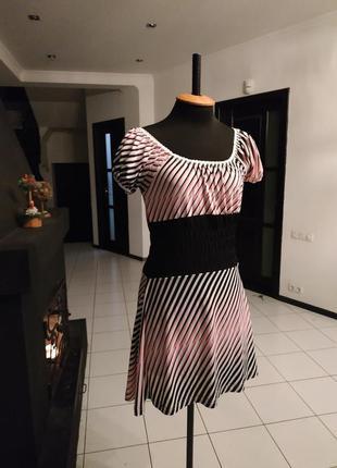 Эксклюзив! платье юбка солнце талия на резинке италия полоска ...