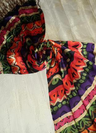 Большой шелковый платок, шарф