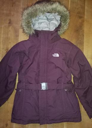 The north face зимняя куртка, пуховик(14-16 лет, или xs)