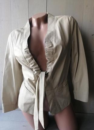 Hugo boss жакет, куртка, пиджак. 100%кожа ягненка