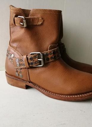 Ash демисезонные, кожаные ботинки