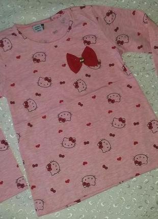 Реглан на девочку розовый китти