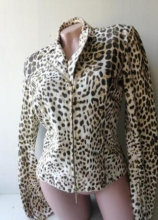 Roberto cavalli эффектная хлопковая куртка, жакет