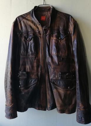 Hugo boss orange мужская кожаная куртка