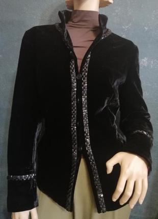 Rena lange бархатный пиджак