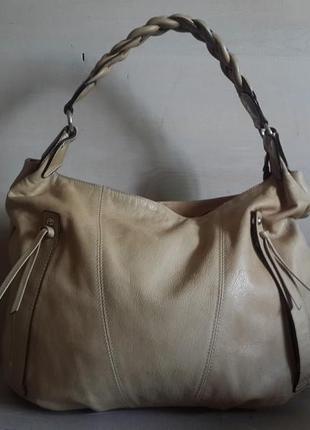 Большая,кожаная сумка maxima.италия