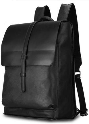 Мужской рюкзак кожаный вместительный стильный casual анатомиче...