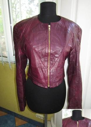 Модная женская кожаная куртка studio. лот 170