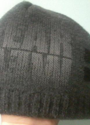 Двойная зимняя шапка, обхв.54-66, мужская