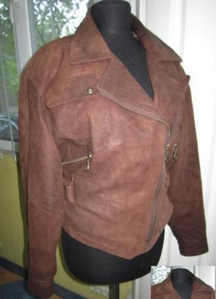 Оригинальная женская кожаная куртка-косуха. лот 234
