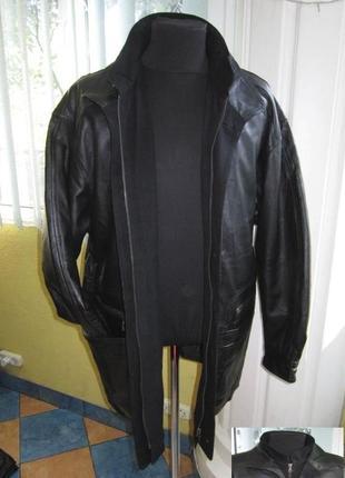 Большая кожаная мужская куртка m.flues. германия. лот 275