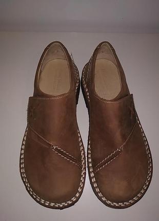 Новые кожаные ортопедические туфли ботинки 38-39 josef seibel