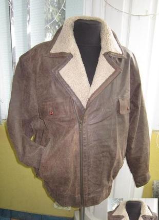 Большая утеплённая кожаная мужская куртка new fast, c&a. лот 333