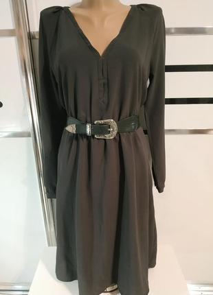 Платье с длинным рукавом mango