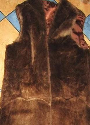 Натуральная меховая подстёжка (жилетка). стриженый бобёр. герм...