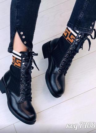 Трендовые женские демисезонные ботинки на удобном каблуке